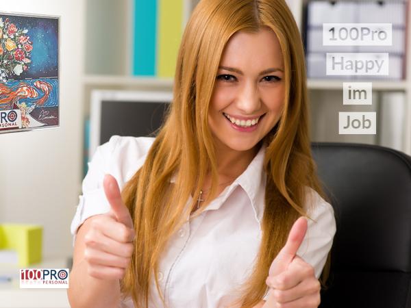 Mit 100Pro Personal GmbH am Niederrhein Happy im Job